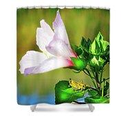 Grasshopper And Flower Shower Curtain