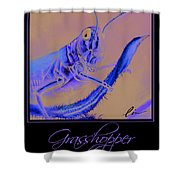 Grasshopper Poster Shower Curtain