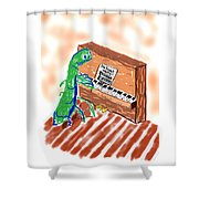 Grasshoppers Don't Play Piano Shower Curtain