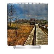 Grassy Glades Shower Curtain by Debra and Dave Vanderlaan