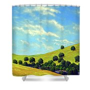 Grassy Hills At Meadow Creek Shower Curtain