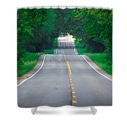 Grassy Lake Road Shower Curtain