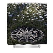 Grassy Manhole Shower Curtain