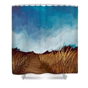 Grassy Path Shower Curtain