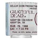 Grateful Dead Ticket - Hampton Coliseum Shower Curtain
