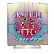 Gratitude Attitude Shower Curtain