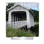 Grave Creek Bridge Shower Curtain