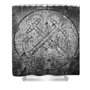 Grave Of Cadet Soady Macroom Ireland Shower Curtain