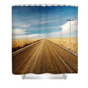 Gravel Lines Shower Curtain
