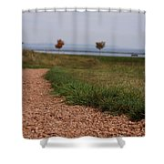 Gravel Path Shower Curtain