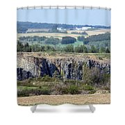 Gravel Pit Canyon Shower Curtain