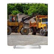 Gravel Pit Loader And Dump Truck 01 Shower Curtain