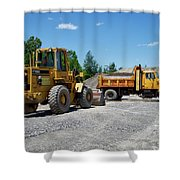 Gravel Pit Loader And Dump Truck 03 Shower Curtain