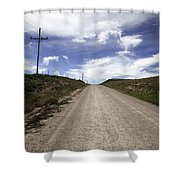 Gravel Road Shower Curtain