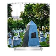 Graves At Sunrise Arlington Cemetery Shower Curtain