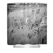 Graveyard 6793 Shower Curtain