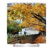 Graveyard In Autumn Shower Curtain