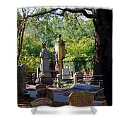 Graveyard In Charleston Shower Curtain