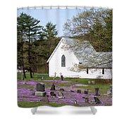 Graveyard Phlox Country Church Shower Curtain