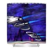 Gravitational Forces Shower Curtain