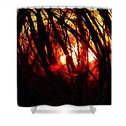 Gravity Inversion At Sunset Shower Curtain