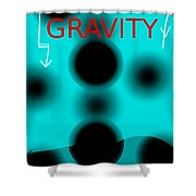 Gravity Movie Poster Shower Curtain