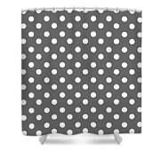 Gray And White Polka Dots Shower Curtain