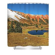 Gray Copper Gulch Shower Curtain