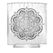 Gray Mandala Shower Curtain