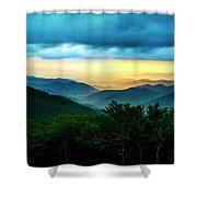 Gray Mountain Shower Curtain