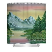 Gray Mountains Shower Curtain