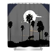 Gray Palms Shower Curtain