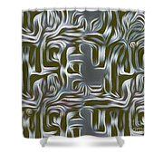 Gray Pattern,abstraction Shower Curtain