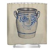 Gray Pottery Jar Shower Curtain