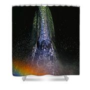Gray Rainbow Shower Curtain