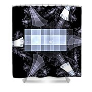 Gray Towers Shower Curtain
