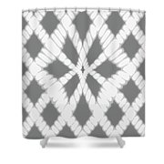 Gray Twisted Braids Shower Curtain