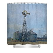 Gray Windmill 2 Shower Curtain