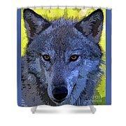 Gray Wolf Portrait Shower Curtain