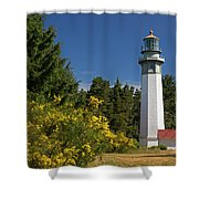 Grays Harbor Lighthouse H Shower Curtain