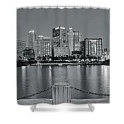 Grayscale By The River 2017 Shower Curtain