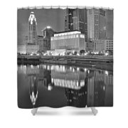 Grayscale Columbus Shower Curtain