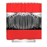 Grayscale Swollen Icicles Shower Curtain