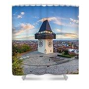Graz Sunset Panorama Shower Curtain