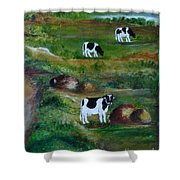 Grazing Cows. Shower Curtain