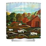 Grazing Sheep Shower Curtain