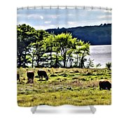 Grazing With A View Shower Curtain