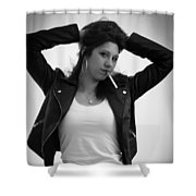 Grease Funky Shower Curtain