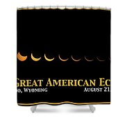 Great American Eclipse 2 Shower Curtain