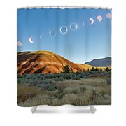 Great American Eclipse Composite 2 Shower Curtain
